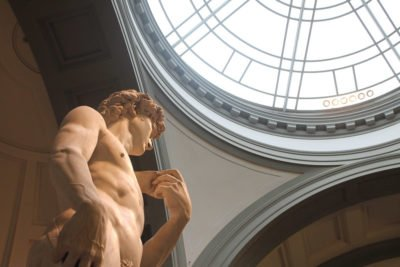 Statue of David in the Accademia Gallery