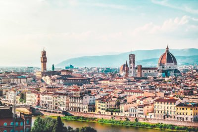 Panoramic view of Florence with Duomo